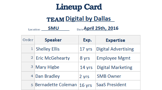 digital by dallas line up