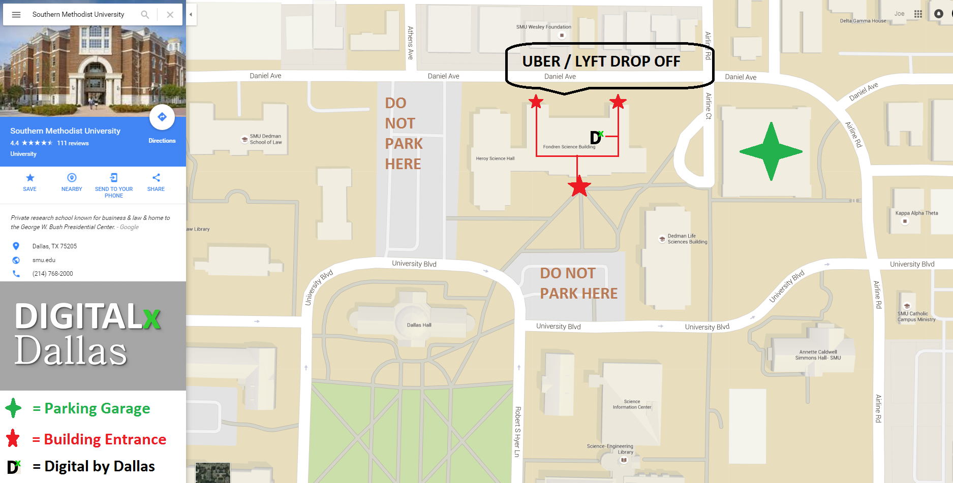 digital by dallas parking map at smu